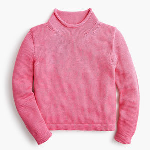 J.Crew 1988 Rollneck Cropped Sweater Pink NWT